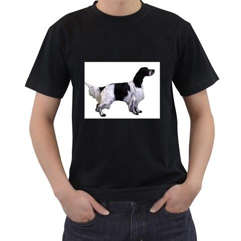 English Setter Full Men s T-Shirt (Black)