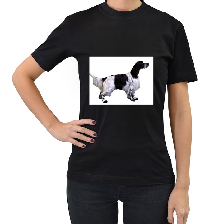 English Setter Full Women s T-Shirt (Black)