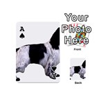 English Setter Full Playing Cards 54 (Mini)  Front - SpadeA