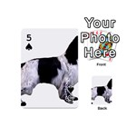 English Setter Full Playing Cards 54 (Mini)  Front - Spade5