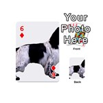 English Setter Full Playing Cards 54 (Mini)  Front - Diamond6