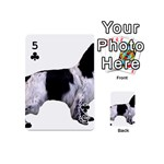 English Setter Full Playing Cards 54 (Mini)  Front - Club5
