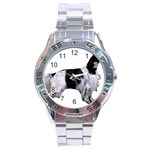 English Setter Full Stainless Steel Analogue Watch Front