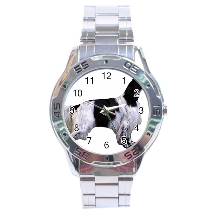 English Setter Full Stainless Steel Analogue Watch