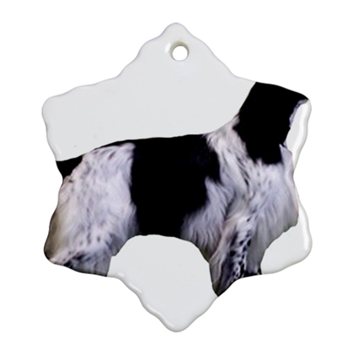 English Setter Full Ornament (Snowflake)