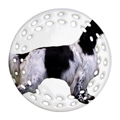 English Setter Full Round Filigree Ornament (2Side)