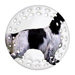 English Setter Full Round Filigree Ornament (2Side) Back