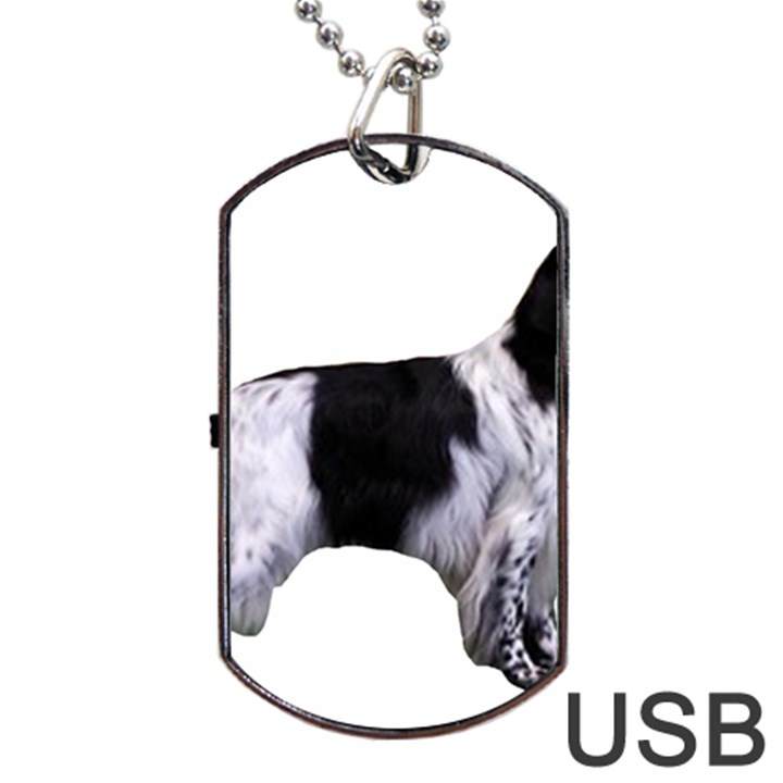 English Setter Full Dog Tag USB Flash (One Side)
