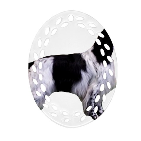 English Setter Full Ornament (Oval Filigree)
