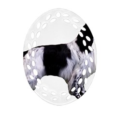 English Setter Full Oval Filigree Ornament (2-Side)