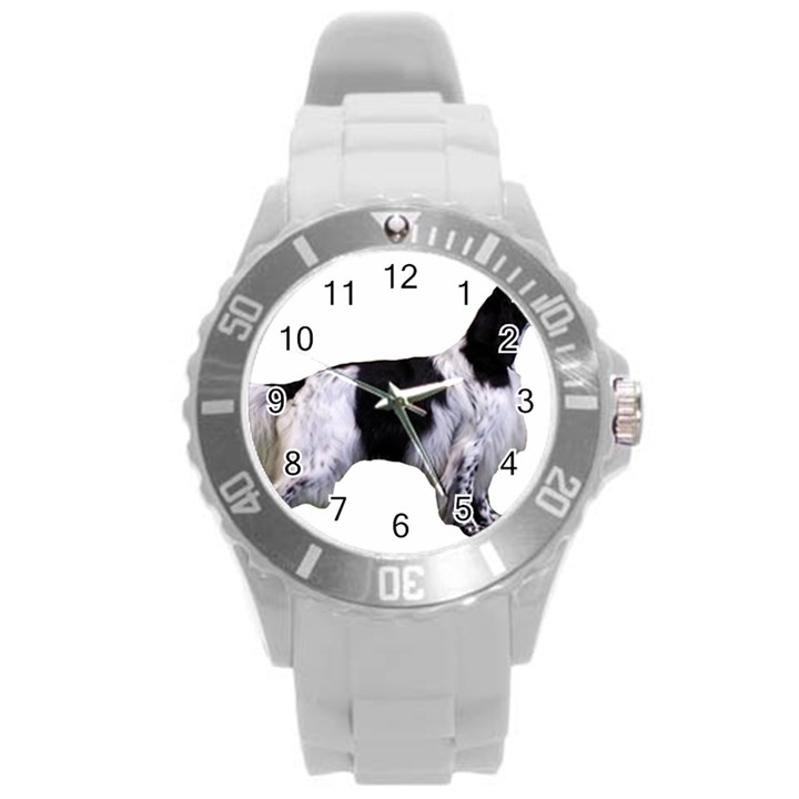 English Setter Full Round Plastic Sport Watch (L)