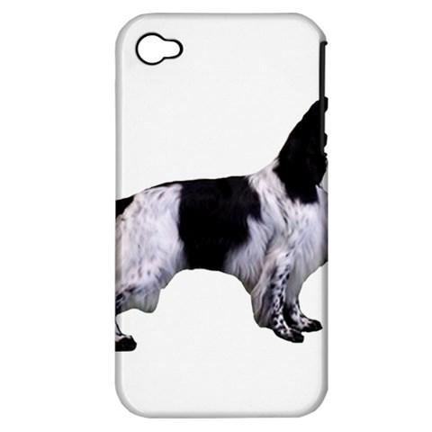 English Setter Full Apple iPhone 4/4S Hardshell Case (PC+Silicone)