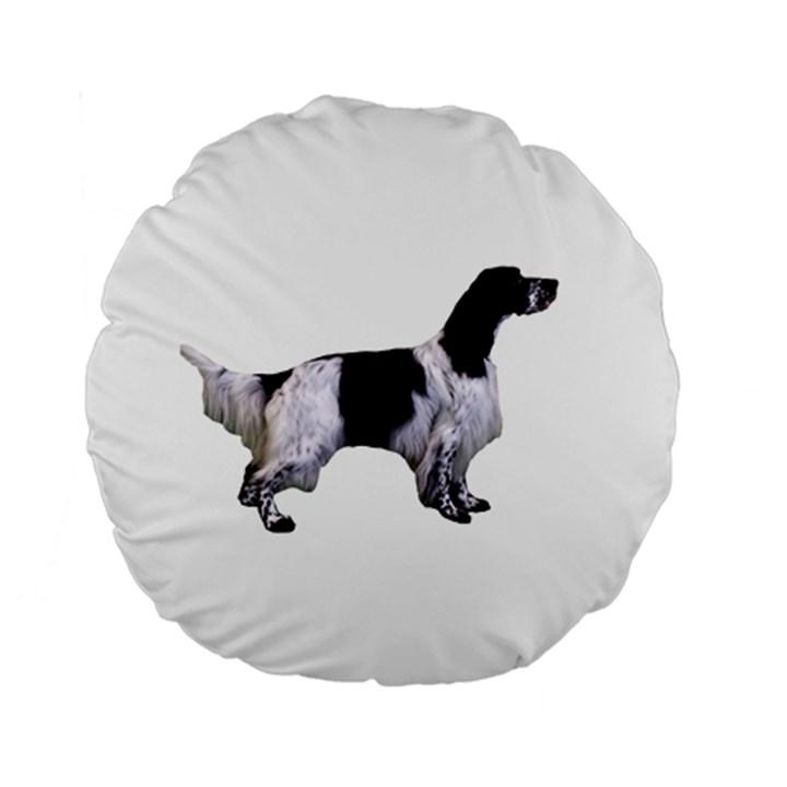 English Setter Full Standard 15  Premium Round Cushions