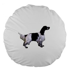 English Setter Full Large 18  Premium Round Cushions