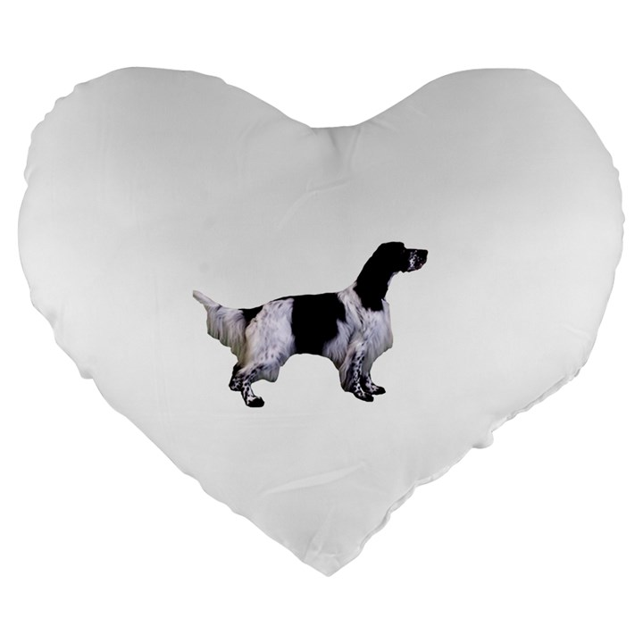 English Setter Full Large 19  Premium Heart Shape Cushions