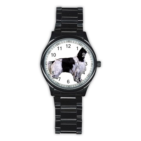 English Setter Full Stainless Steel Round Watch