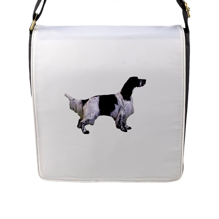 English Setter Full Flap Messenger Bag (L)