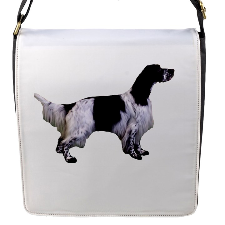 English Setter Full Flap Messenger Bag (S)