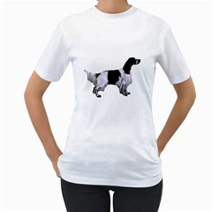 English Setter Full Women s T-Shirt (White)