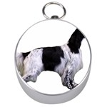 English Setter Full Silver Compasses Front
