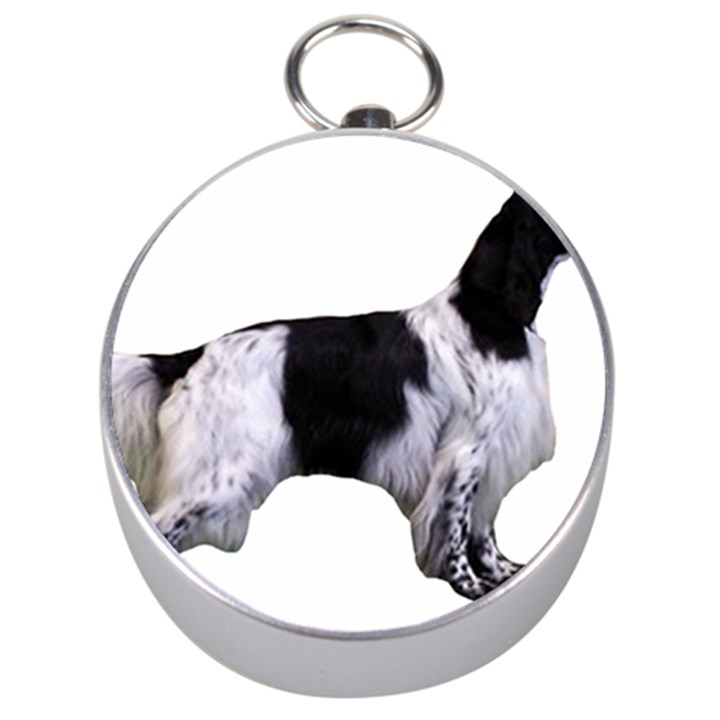 English Setter Full Silver Compasses