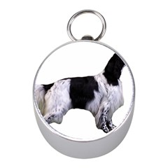 English Setter Full Mini Silver Compasses