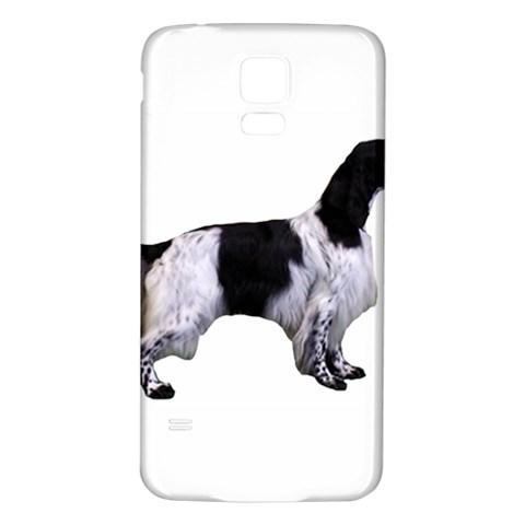 English Setter Full Samsung Galaxy S5 Back Case (White)