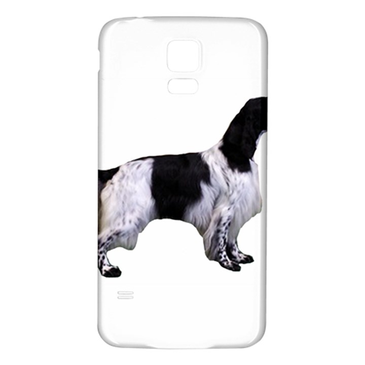 English Setter Full Samsung Galaxy S5 Back Case (White)
