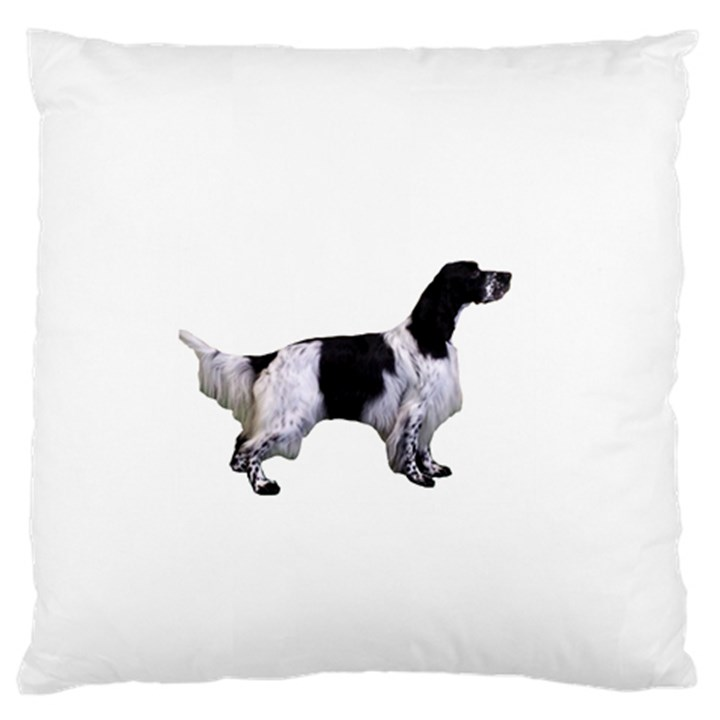 English Setter Full Large Flano Cushion Case (Two Sides)