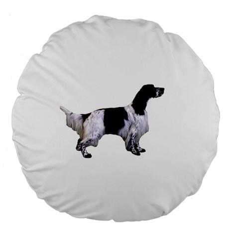 English Setter Full Large 18  Premium Flano Round Cushions