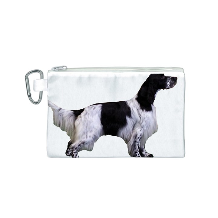English Setter Full Canvas Cosmetic Bag (S)