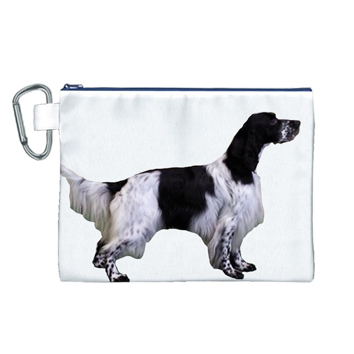 English Setter Full Canvas Cosmetic Bag (L)