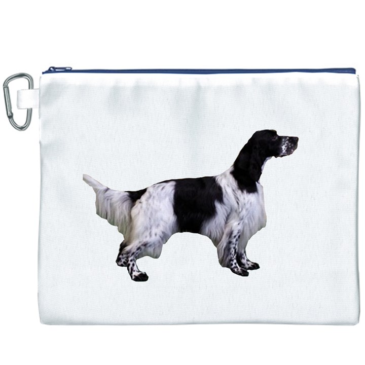 English Setter Full Canvas Cosmetic Bag (XXXL)