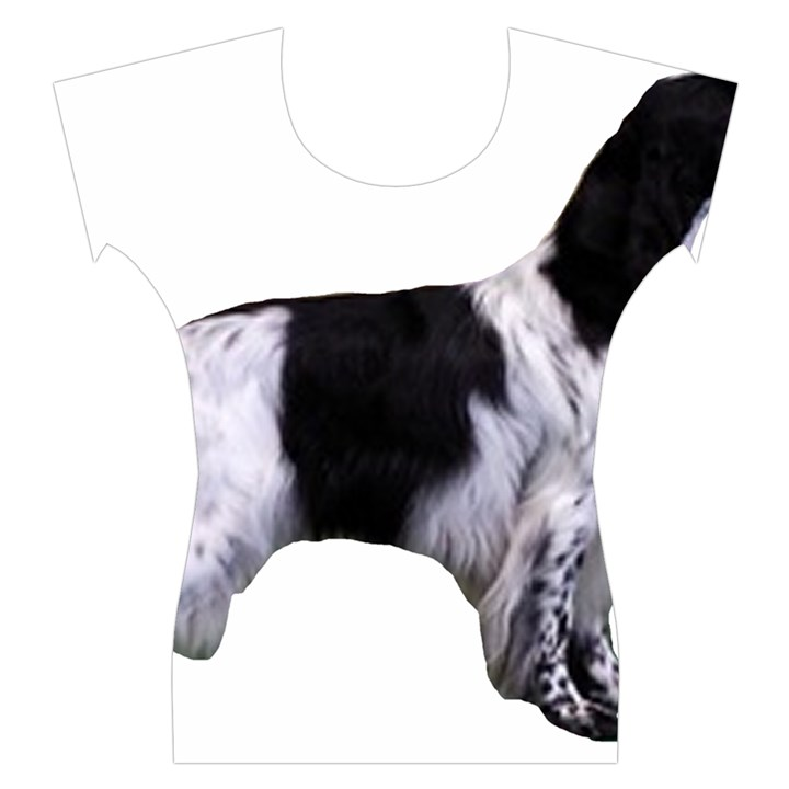 English Setter Full Women s Cap Sleeve Top