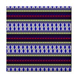 Colorful Retro Geometric Pattern Tile Coasters Front