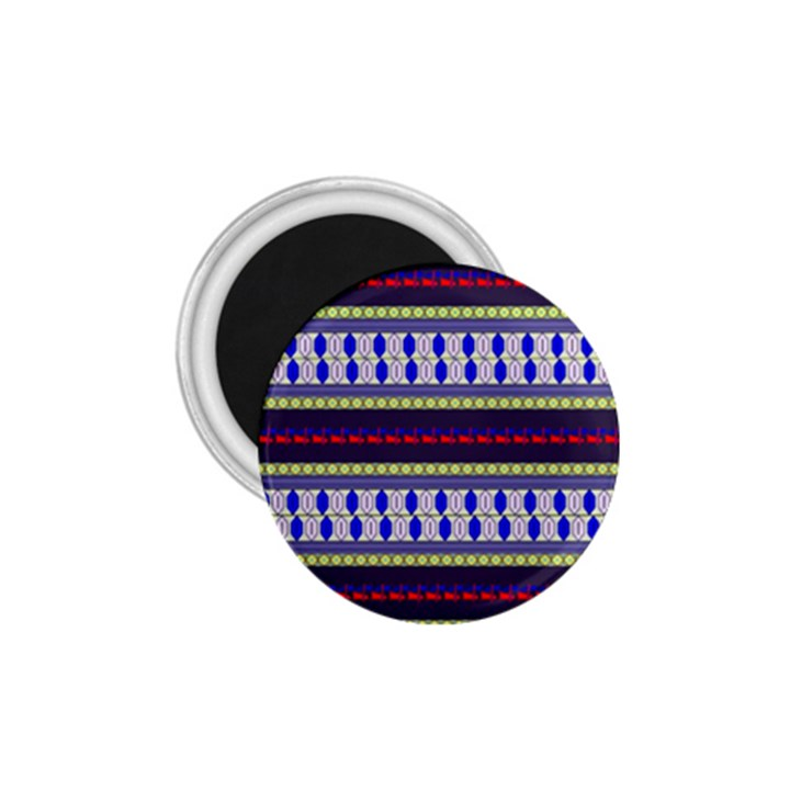 Colorful Retro Geometric Pattern 1.75  Magnets