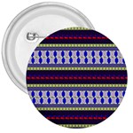 Colorful Retro Geometric Pattern 3  Buttons Front