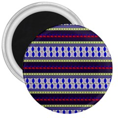 Colorful Retro Geometric Pattern 3  Magnets