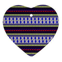 Colorful Retro Geometric Pattern Ornament (heart)