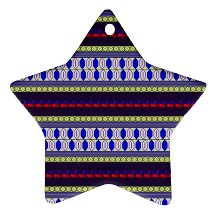 Colorful Retro Geometric Pattern Ornament (Star)