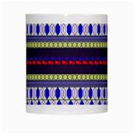 Colorful Retro Geometric Pattern White Mugs Center