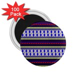 Colorful Retro Geometric Pattern 2.25  Magnets (100 pack)  Front