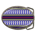Colorful Retro Geometric Pattern Belt Buckles Front
