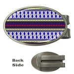 Colorful Retro Geometric Pattern Money Clips (Oval)  Front
