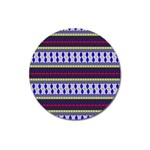 Colorful Retro Geometric Pattern Magnet 3  (Round) Front