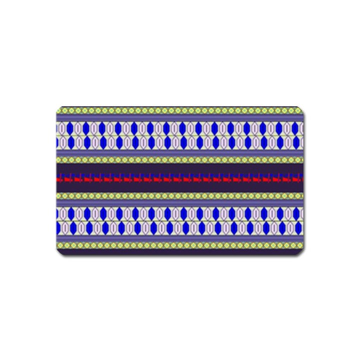 Colorful Retro Geometric Pattern Magnet (Name Card)