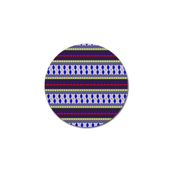 Colorful Retro Geometric Pattern Golf Ball Marker
