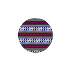 Colorful Retro Geometric Pattern Golf Ball Marker (4 pack)