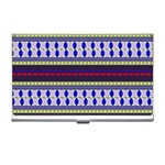Colorful Retro Geometric Pattern Business Card Holders Front