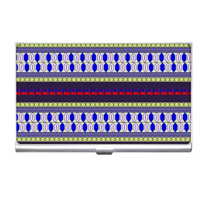 Colorful Retro Geometric Pattern Business Card Holders